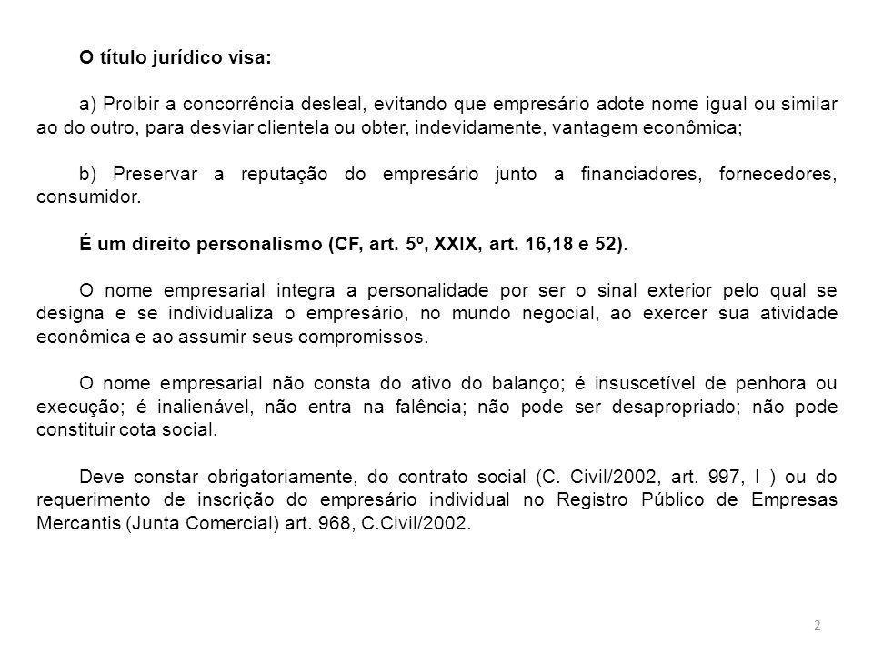 O título jurídico visa:
