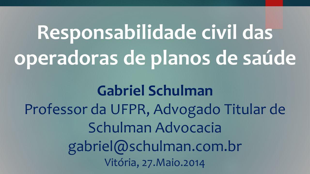 Responsabilidade civil das operadoras de planos de saúde