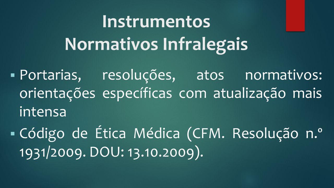 Instrumentos Normativos Infralegais