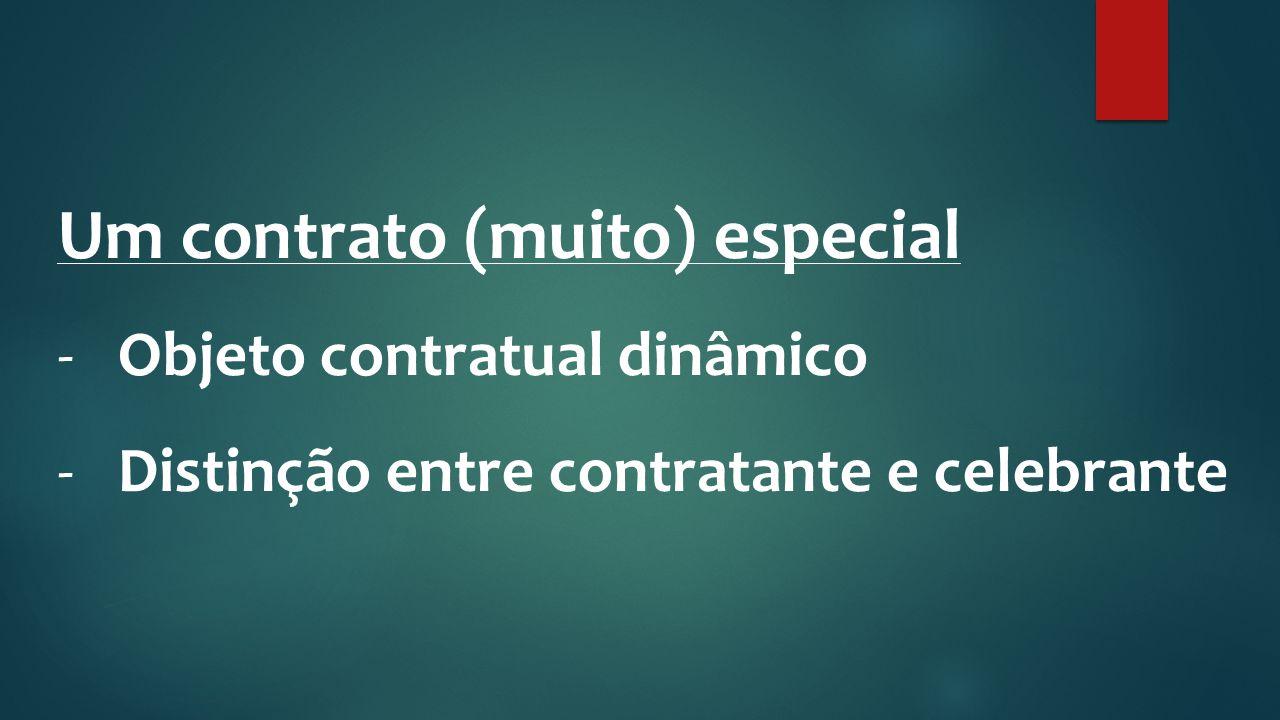 Um contrato (muito) especial