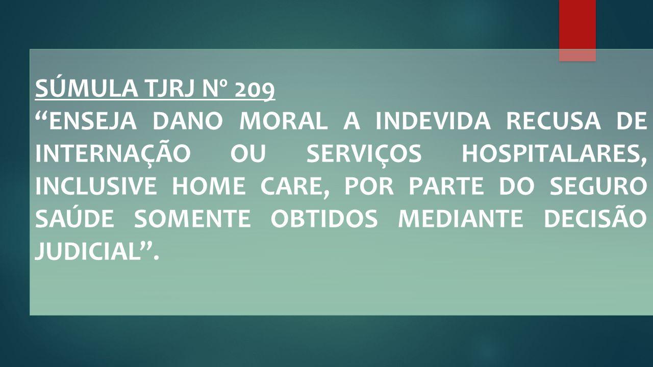SÚMULA TJRJ Nº 209