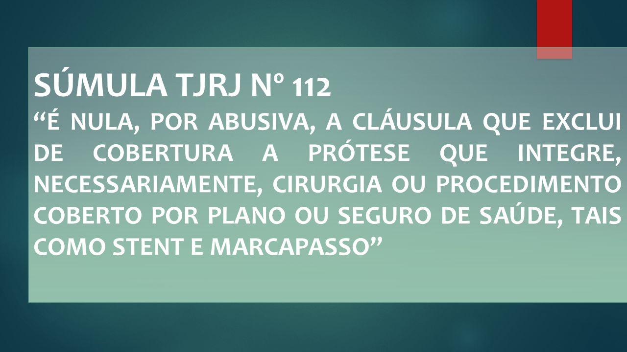 SÚMULA TJRJ Nº 112