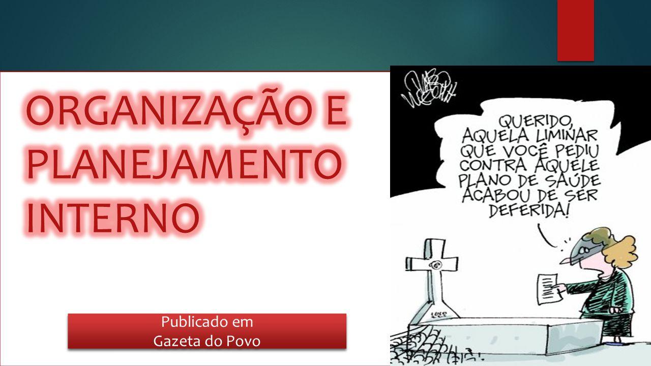 ORGANIZAÇÃO E PLANEJAMENTO INTERNO