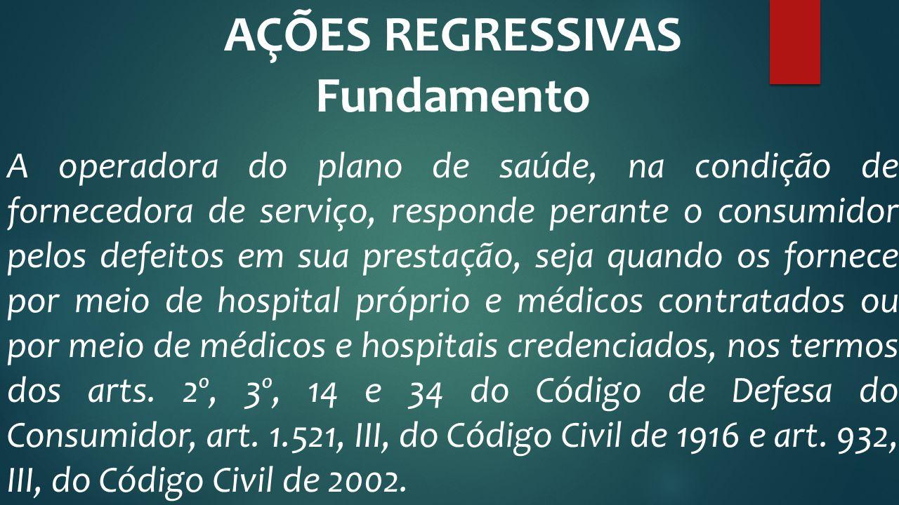 AÇÕES REGRESSIVAS Fundamento