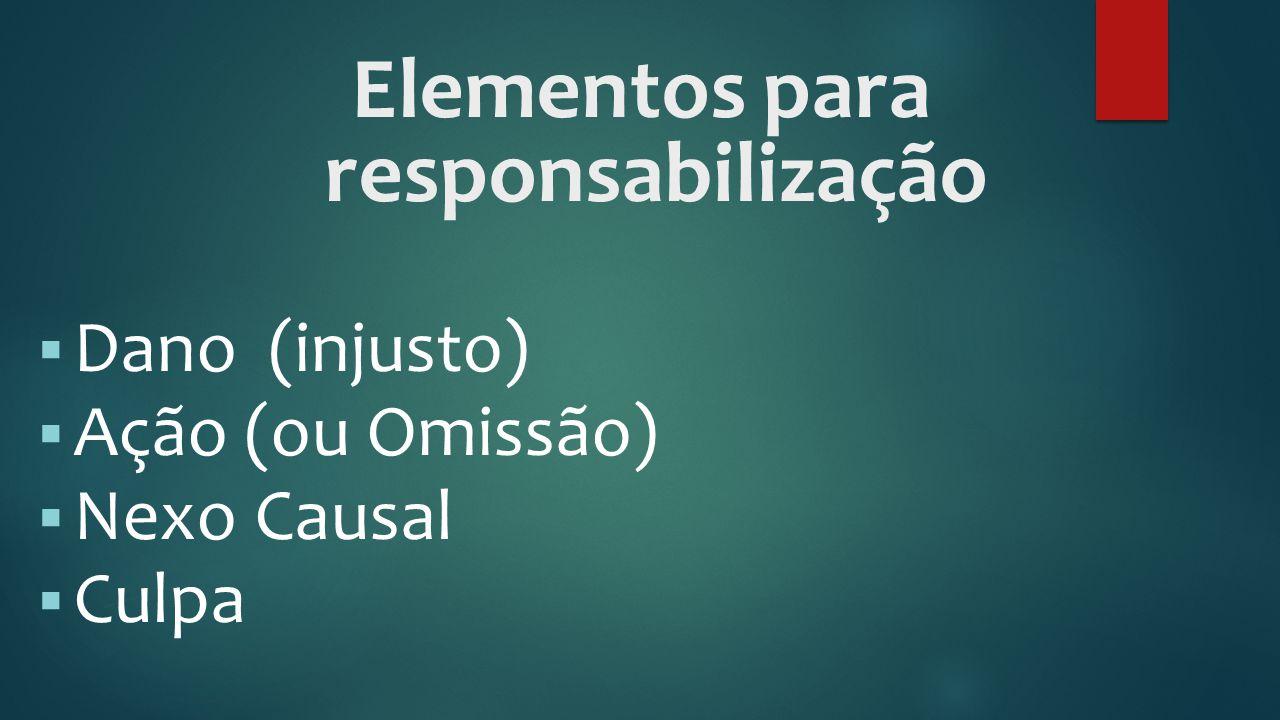 Elementos para responsabilização