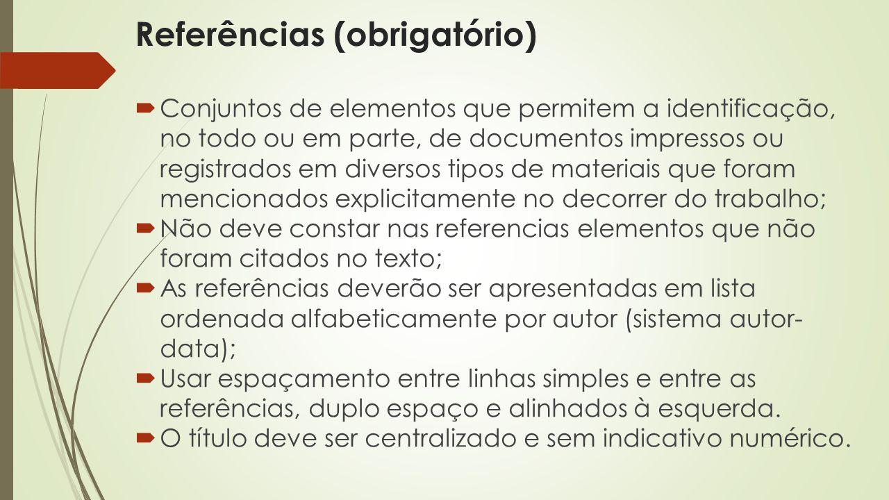 Referências (obrigatório)