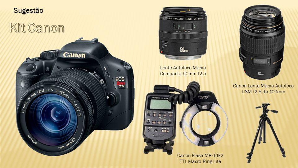 Kit Canon Sugestão Lente Autofoco Macro Compacta 50mm f2.5