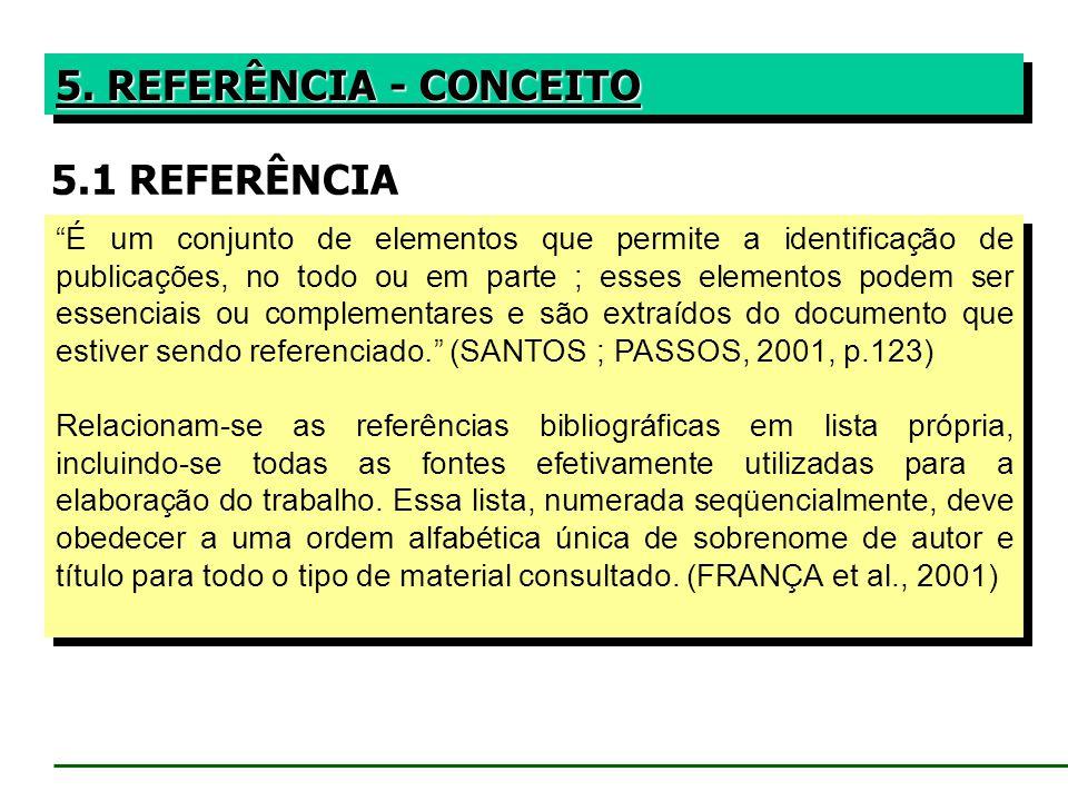 5. REFERÊNCIA - CONCEITO 5.1 REFERÊNCIA