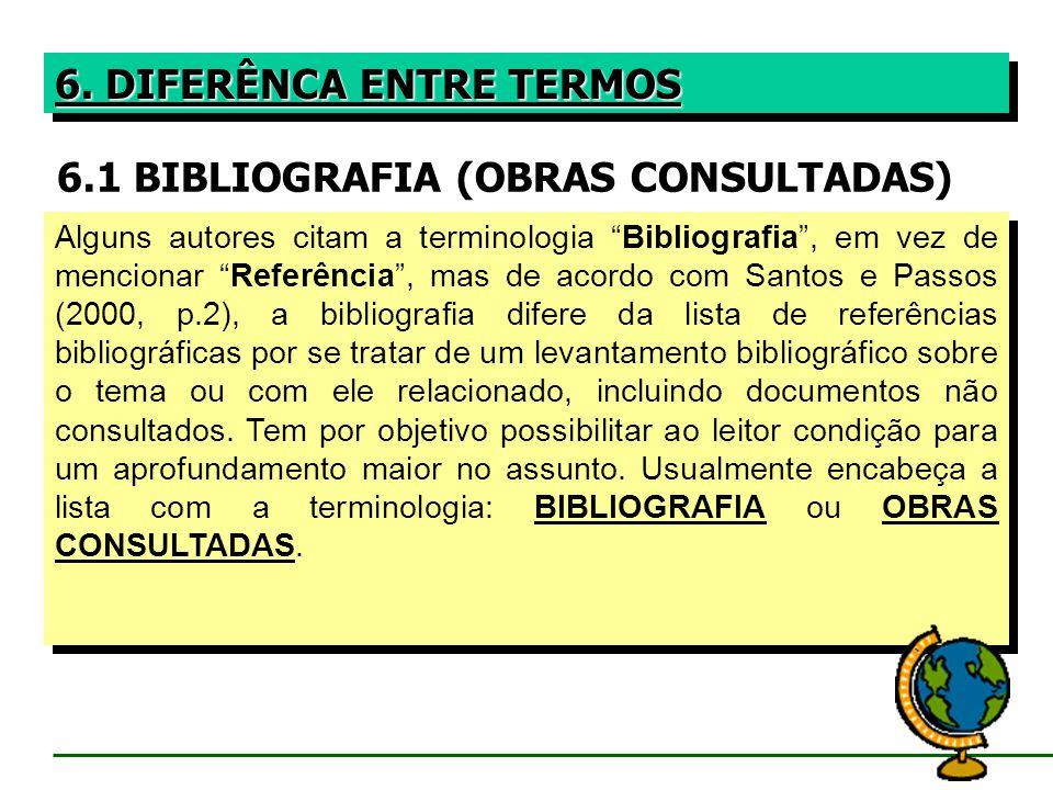 6.1 BIBLIOGRAFIA (OBRAS CONSULTADAS)