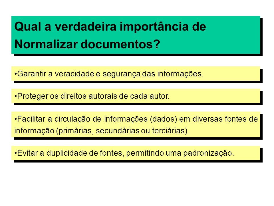 Qual a verdadeira importância de Normalizar documentos