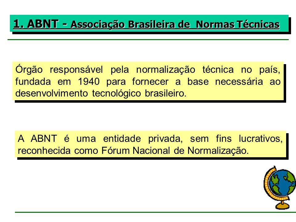 1. ABNT - Associação Brasileira de Normas Técnicas