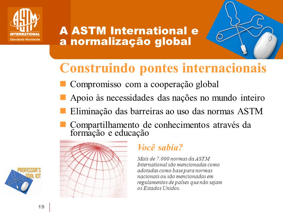 A ASTM International e a normalização global