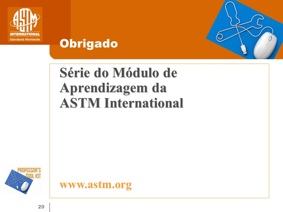 Série do Módulo de Aprendizagem da ASTM International
