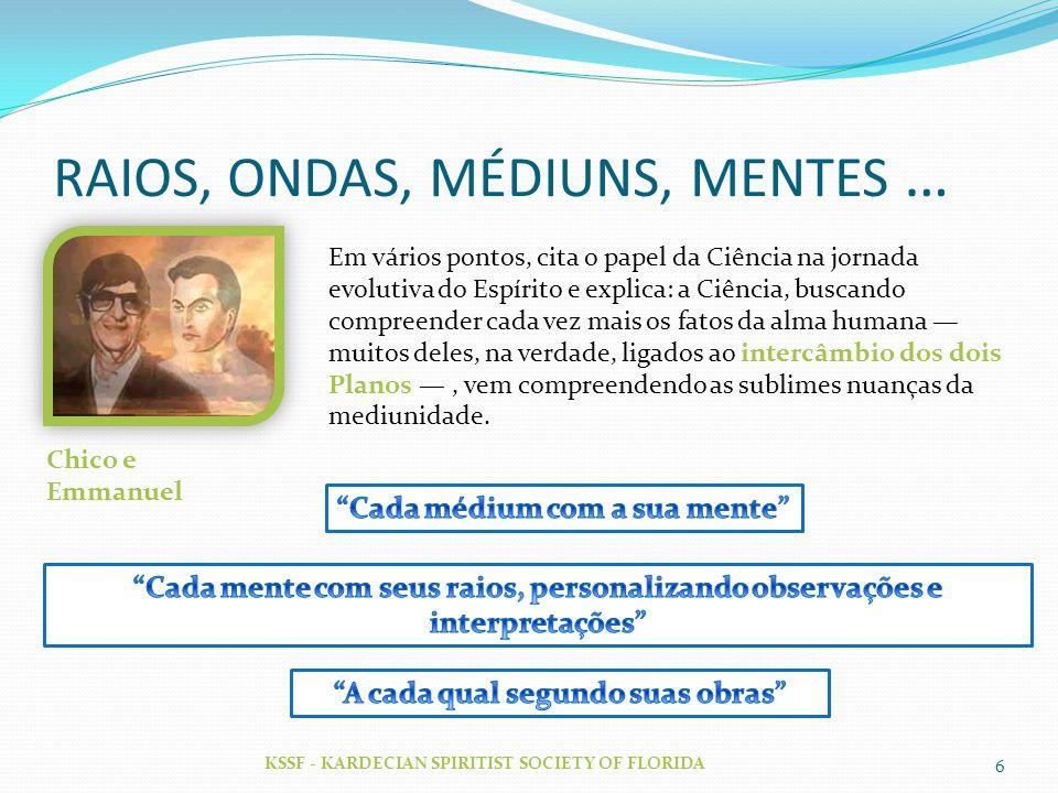 RAIOS, ONDAS, MÉDIUNS, MENTES …