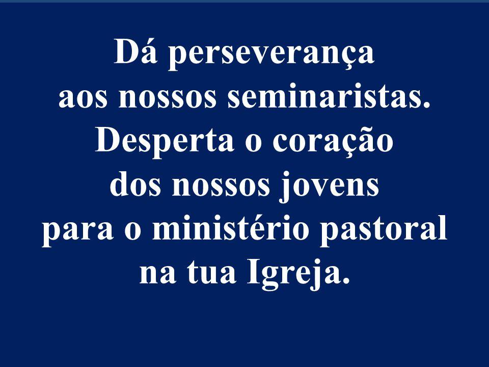 Dá perseverança aos nossos seminaristas