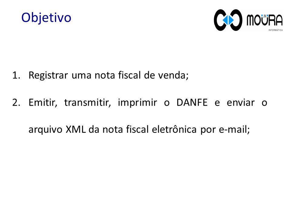 Objetivo Registrar uma nota fiscal de venda;