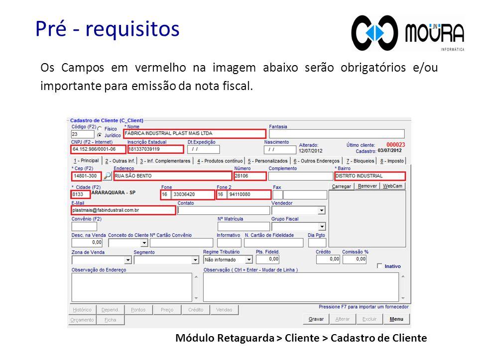 Módulo Retaguarda > Cliente > Cadastro de Cliente