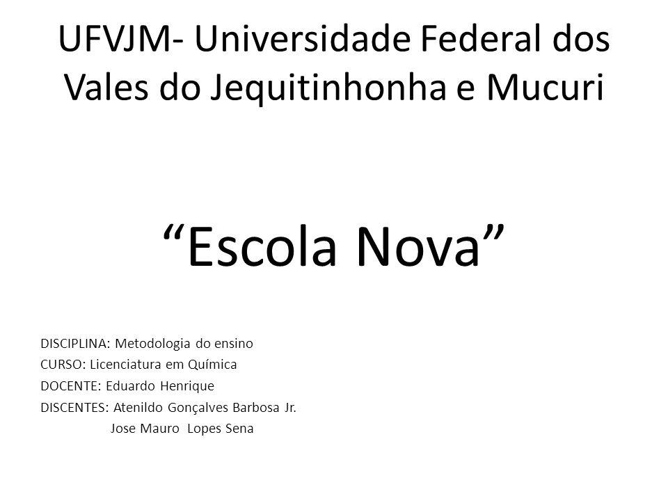 UFVJM- Universidade Federal dos Vales do Jequitinhonha e Mucuri