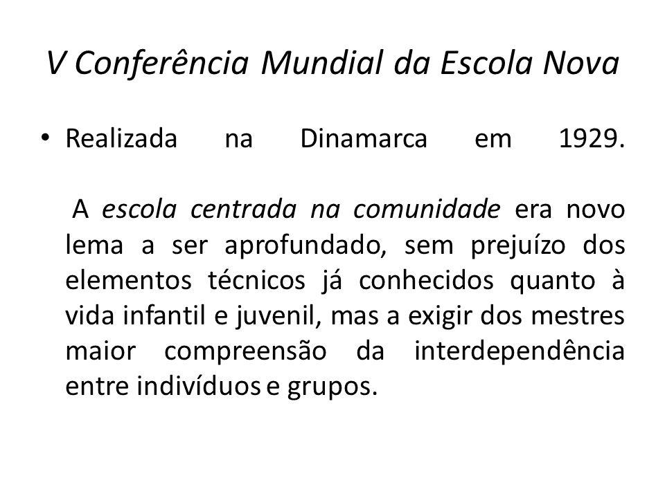 V Conferência Mundial da Escola Nova