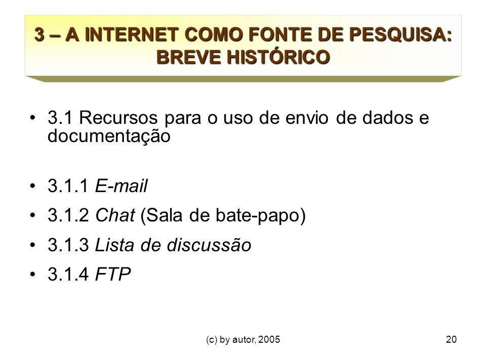 3 – A INTERNET COMO FONTE DE PESQUISA: BREVE HISTÓRICO