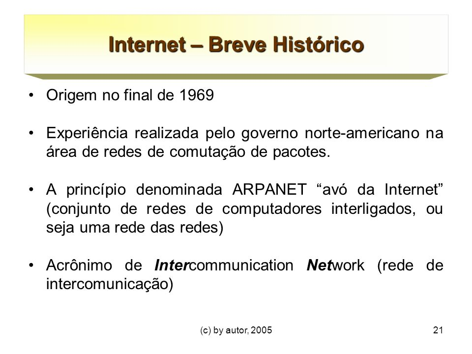 Internet – Breve Histórico