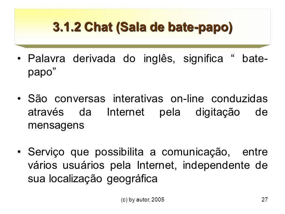 3.1.2 Chat (Sala de bate-papo)