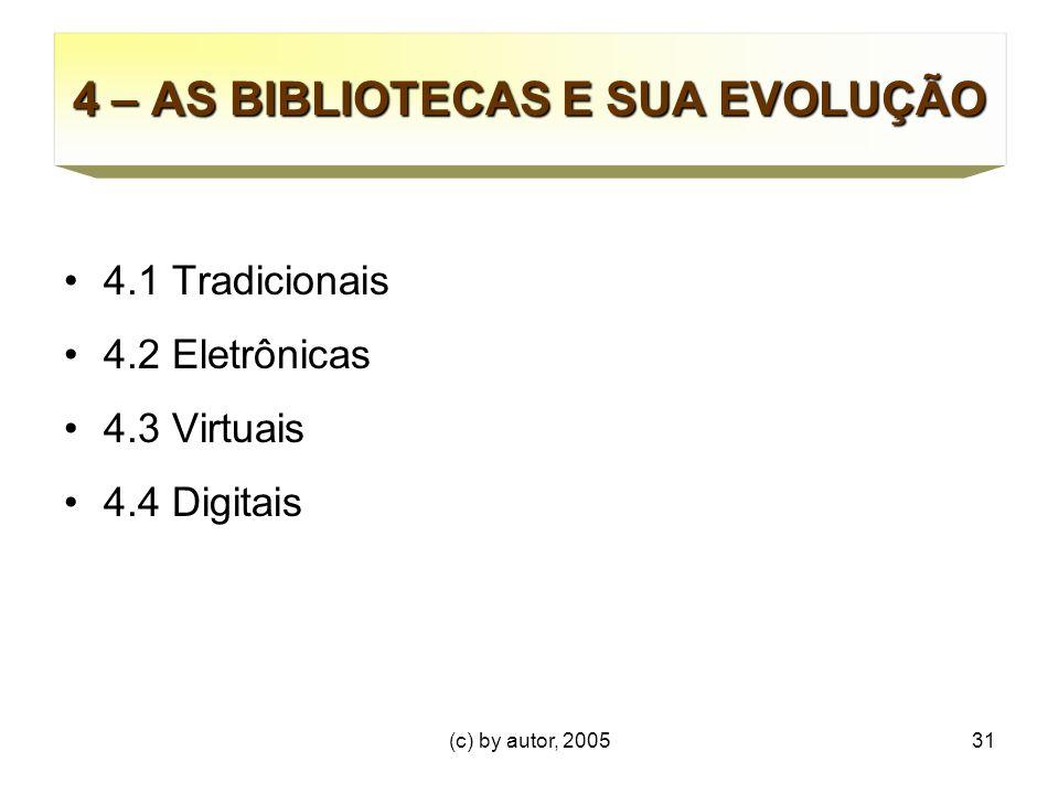 4 – AS BIBLIOTECAS E SUA EVOLUÇÃO