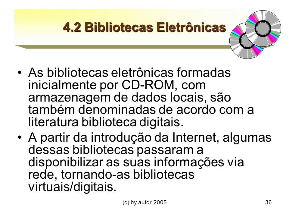 4.2 Bibliotecas Eletrônicas
