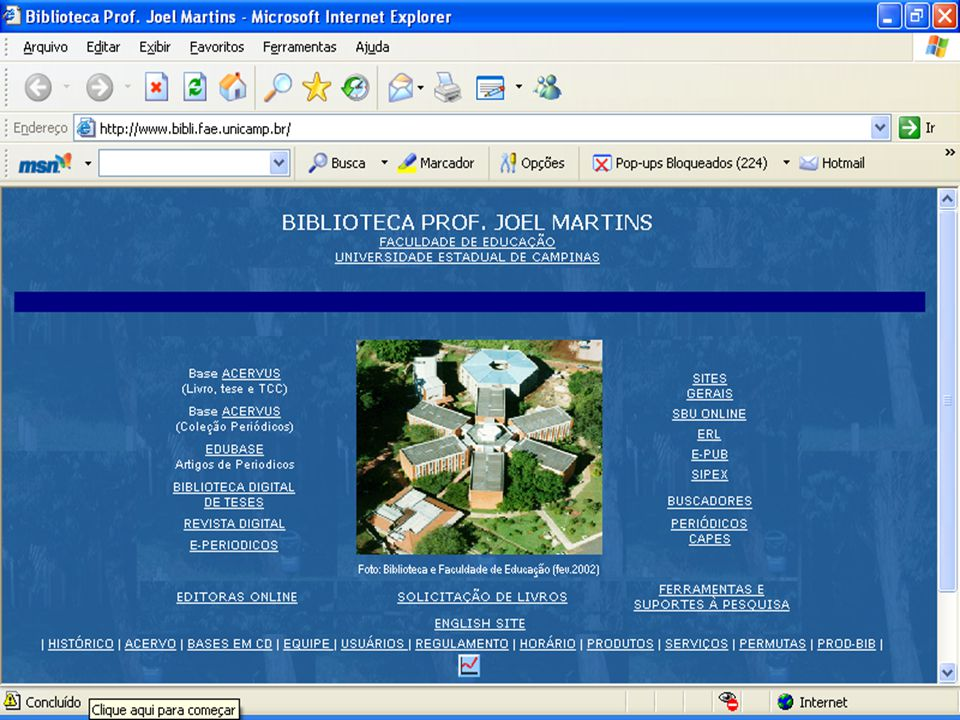 4.3.1 Exemplo de Biblioteca Virtual