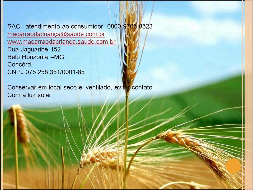 SAC : atendimento ao consumidor 0800-9705-8523