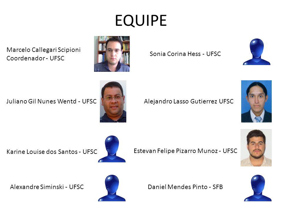 EQUIPE Marcelo Callegari Scipioni Coordenador - UFSC