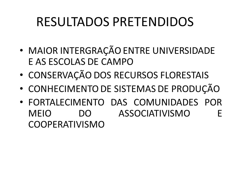 RESULTADOS PRETENDIDOS