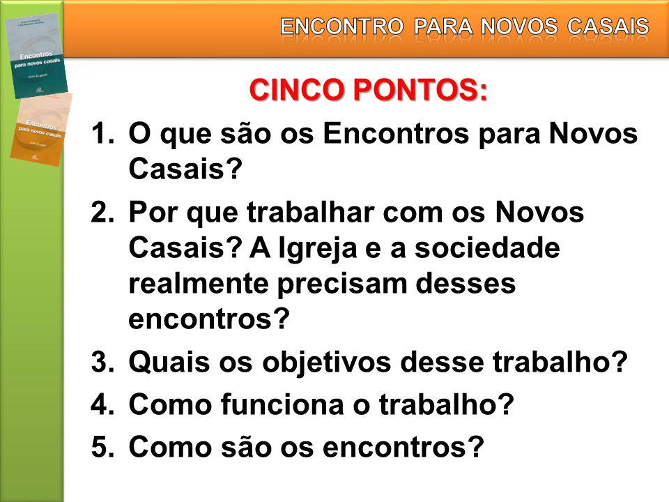 ENCONTRO PARA NOVOS CASAIS
