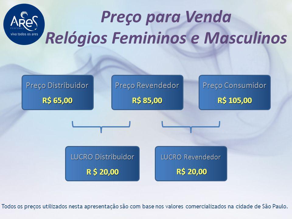 Preço para Venda Relógios Femininos e Masculinos