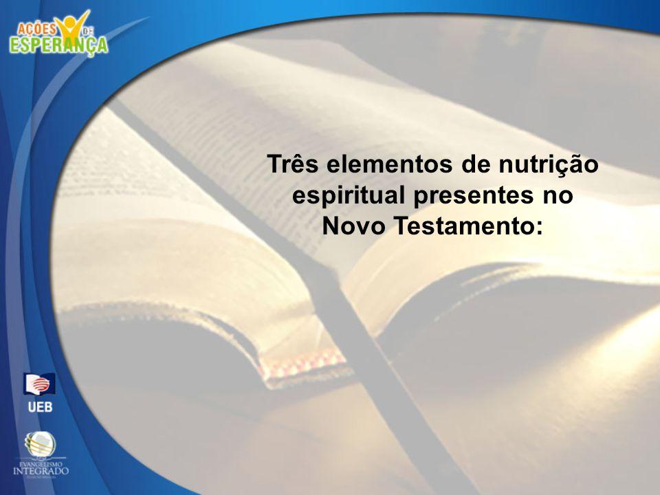 Três elementos de nutrição espiritual presentes no Novo Testamento: