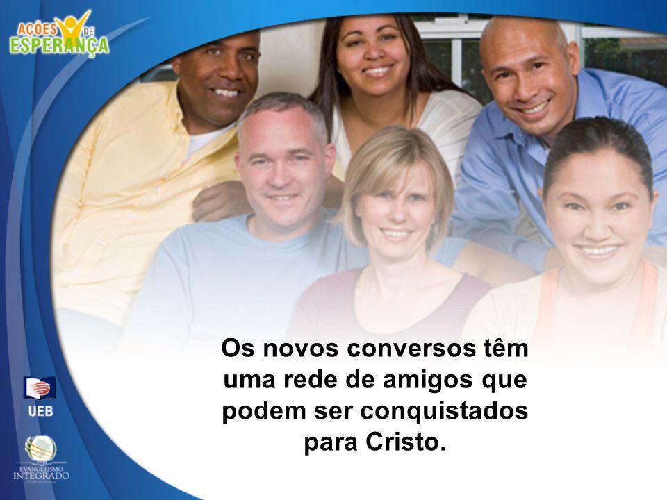 Os novos conversos têm uma rede de amigos que