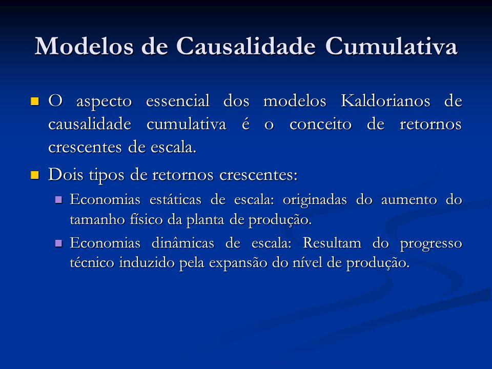 Modelos de Causalidade Cumulativa