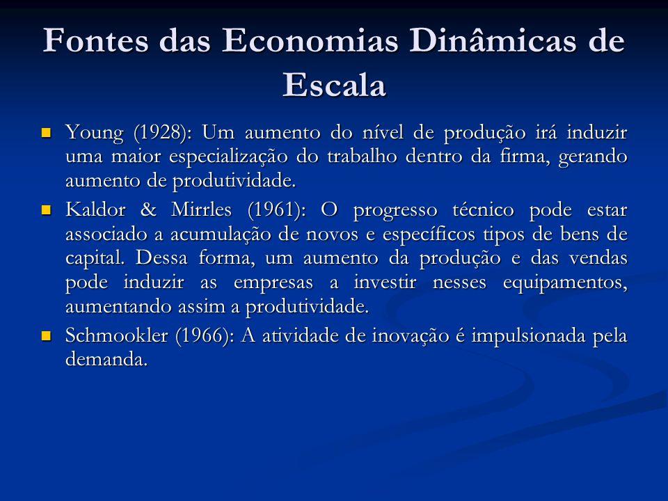 Fontes das Economias Dinâmicas de Escala