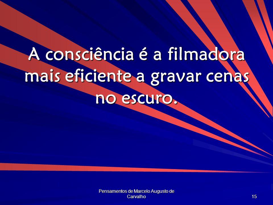 A consciência é a filmadora mais eficiente a gravar cenas no escuro.