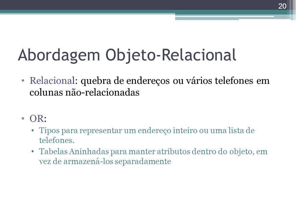 Abordagem Objeto-Relacional