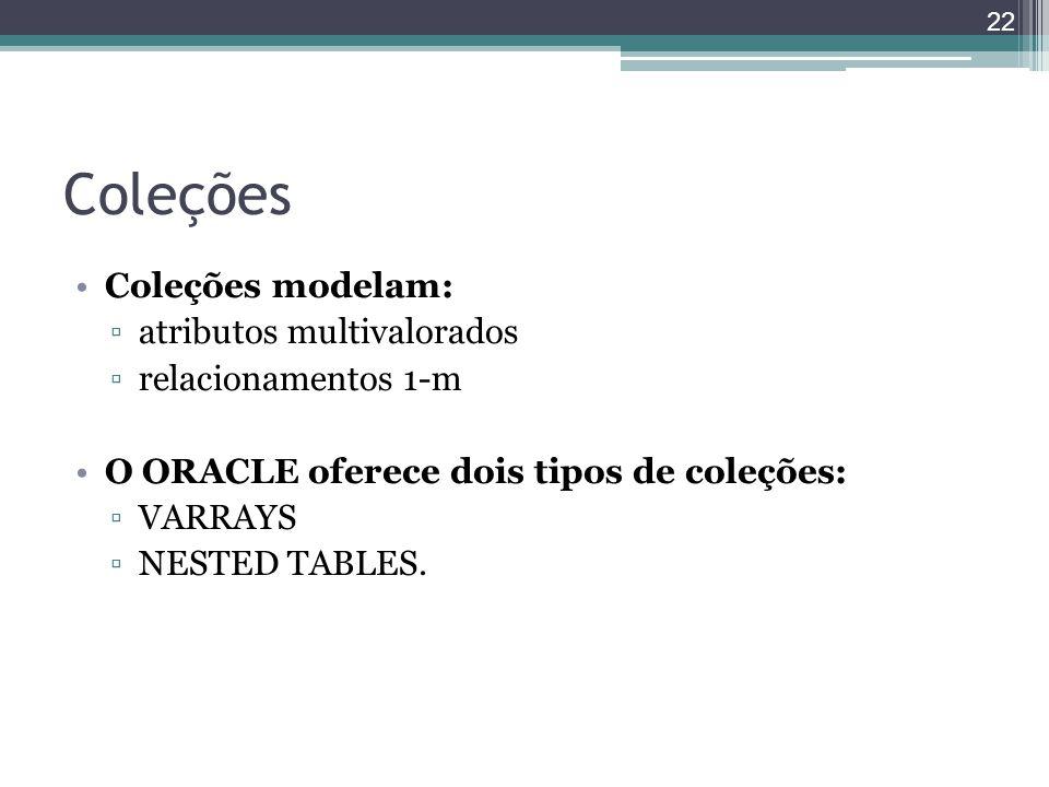 Coleções Coleções modelam: atributos multivalorados
