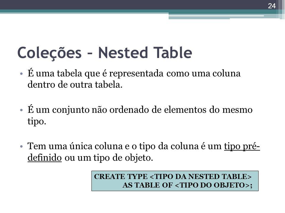 Coleções – Nested Table