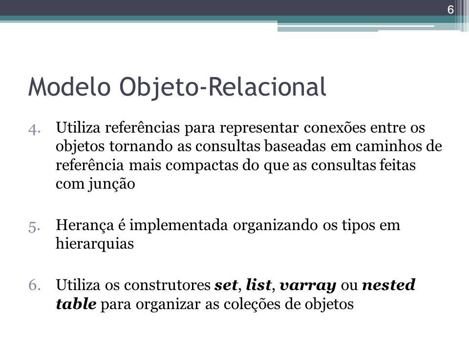 Modelo Objeto-Relacional