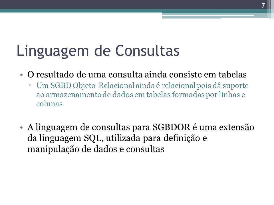 Linguagem de Consultas