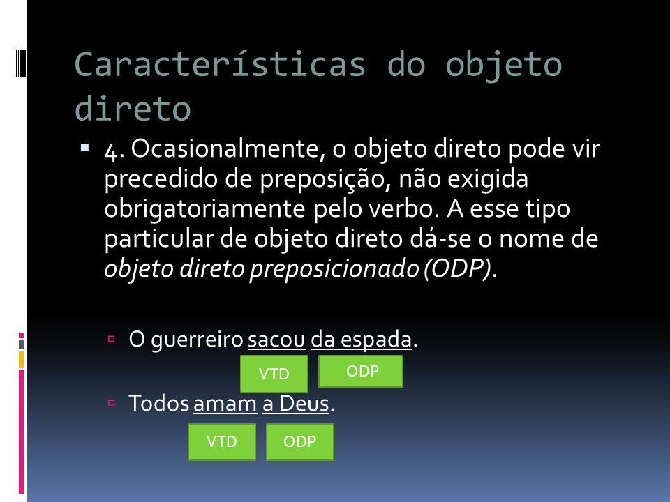 Características do objeto direto