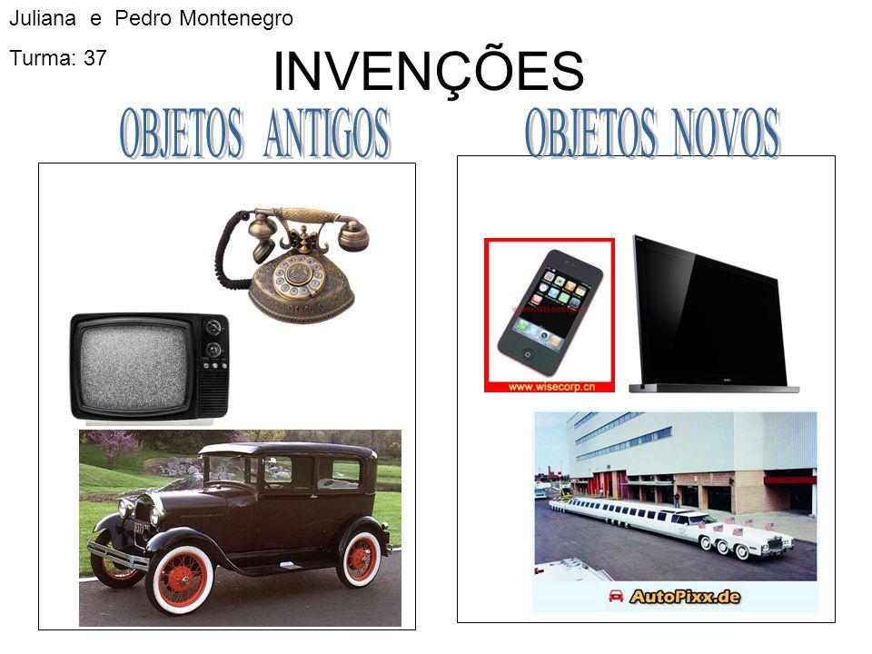 INVENÇÕES OBJETOS ANTIGOS OBJETOS NOVOS Juliana e Pedro Montenegro