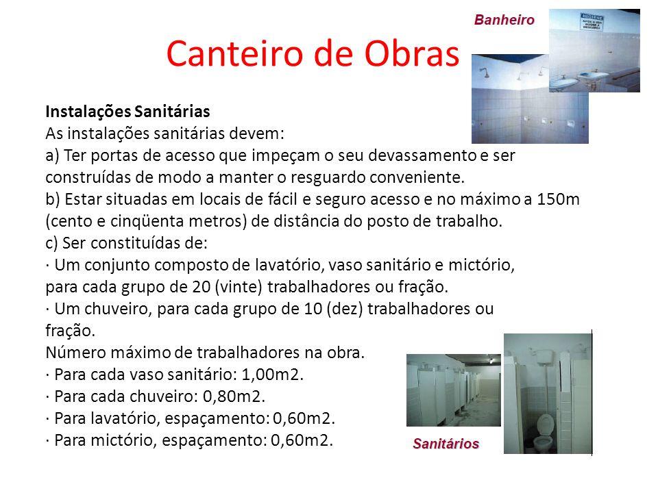 Canteiro de Obras Instalações Sanitárias