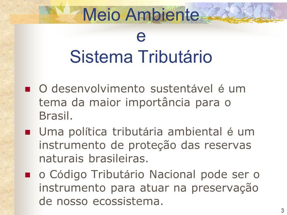Meio Ambiente e Sistema Tributário