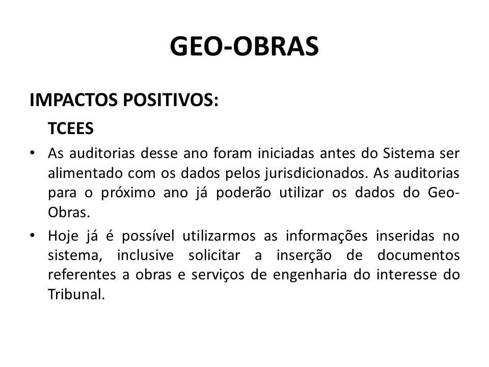 GEO-OBRAS IMPACTOS POSITIVOS: TCEES