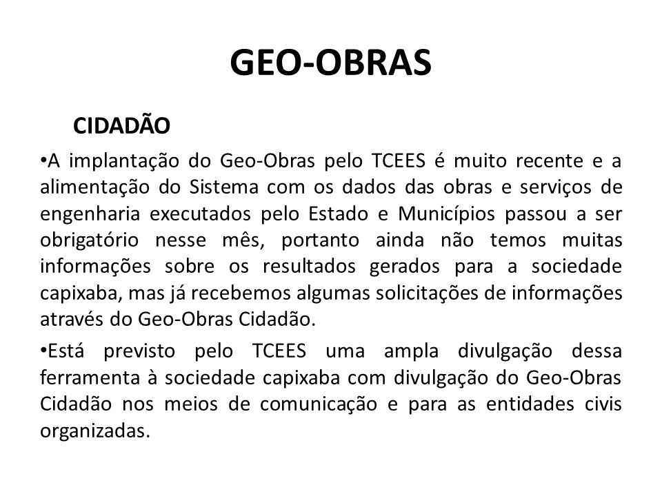 GEO-OBRAS CIDADÃO.